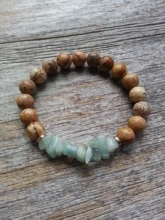 Inner Strength bracelet by Wanderbird. Made from picture jasper and aquamarine. This bracelet increases your inner fire and confidence. Aquamarine is also a protective stone when travelling. How To Release Anger, March Baby, Inner Strength, Birthstones, Jasper, Travelling, Confidence, Fashion Jewelry