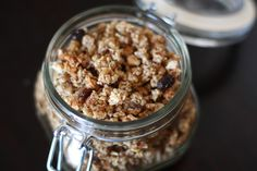 Paleo Vanilla Granola ~ It uses a variety of ground nuts, and soaking the nuts overnight makes them easier to digest, drying them at really low heat preserves the valuable nutrients they provide.