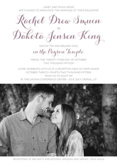 Wedding Invitations Maker Traditional Wedding Invitations, Elegant Wedding Invitations, Wedding Invitation Maker, Payson Temple, Falling In Love, Utah, Announcement, Reception, Marriage