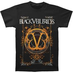 BLACK VEIL BRIDES Pasted T-shirt ($30) ❤ liked on Polyvore featuring tops, t-shirts, band shirts, bride tee, logo tees, t shirt, bridal tops and logo top