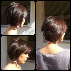 Short hairstyles for fine hair are one of the hairstyles that women often think of, but they don't dare to try them. There are many short and pleasant hairstyles for fine hair. Fine hair is o… Short Hairstyles For Thick Hair, Short Bob Haircuts, Short Hair Cuts, Curly Hair Styles, Fine Hairstyles, Graduated Bob Haircuts, 1920s Hairstyles, Bob Haircut For Fine Hair, Female Hairstyles
