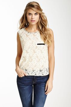 Sleeveless Lace Blouse on HauteLook
