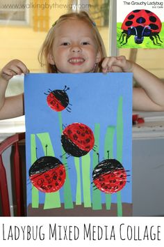 Story Art: The Grouchy Ladybug from Walking by the Way Grouchy Ladybug, Ladybug Art, Ladybug Crafts, Frog Crafts, Preschool Lesson Plans, Preschool Activities, Insect Crafts, Kindergarten Art Projects, Teaching Art