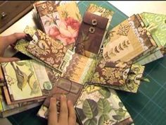 "Inspiration - Explosion Box - ""Curio""   A lot of pockets to put photos, notes and coupons."