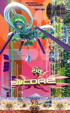 'Encore' - rave flyer - by chipMONKgrafx Graphic Design Print, Graphic Design Inspiration, Futuristic Art, Drawing People, Wall Collage, Creative Director, Aesthetic Wallpapers, Art Inspo, Cyber