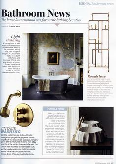 The london wall-mounted thermostatic shower valve in vintage brass from The Watermark Collection. http://www.thewatermarkcollection.eu/ EKBB September 2016