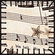 ArtbyJean - Vintage Sheet Music: ---TEA BAG TILES - Diamonds