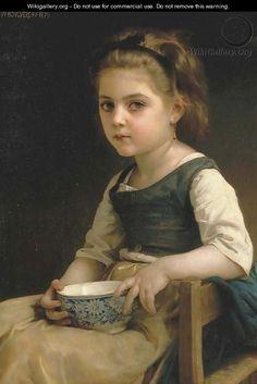 Petite fille au bol bleu - William-Adolphe Bouguereau