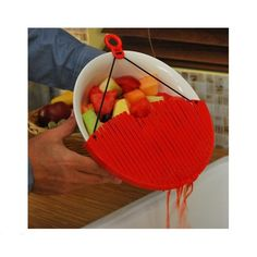 The Better Strainer fits virtually any pot or pan 9.5-inches to 12-inches in diameter. Strain pasta and vegetables, grease from fried meats and juice from frui