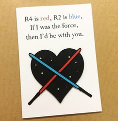 Valentine's Day Love Star Wars Papercut by DoodleDovesPapercuts