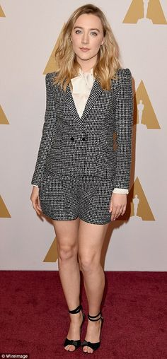 A winner every day:Saoirse Ronan showed off her amazing figure on the red carpet...