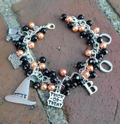 Finders Keepers Creations - Halloween Pearl Charm Bracelet, $19.99 (http://www.finderskeeperscreations.com/halloween-pearl-charm-bracelet/)