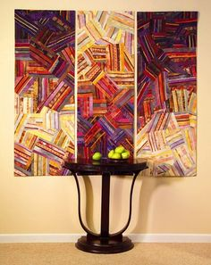 Wall hung quilt, interior decor/ by Carol Taylor.