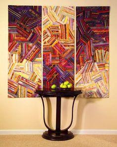 Wall hung quilt, interior decor/ by Carol Taylor.