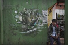 Lotus Blossoms by Faith47 Sprout on the Streets of Goa, India   Colossal