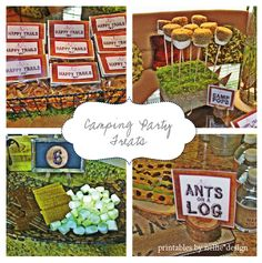Camping Themed birthday party! Party treats