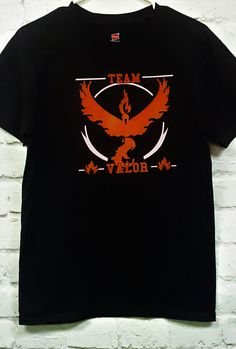 Team Valor Pokemon Go Pokemon Go t-shirt Red team by SpiffyRags