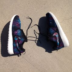 Custom galaxy Nike Roshe Runs. You supply the by SneakerKraft