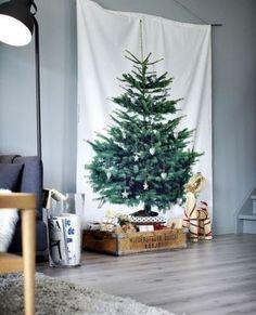 Une toile pour la décoration de Noël scandinave