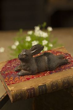 Mothology.com - Large Cast Iron Rabbit, $17.00 (http://www.mothology.com/large-cast-iron-rabbit/)