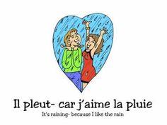 PARAPLUIE Alain le Lait.m4v - YouTube French Teaching Resources, Teaching French, Teaching Tools, French Greetings, Teaching Weather, French Poems, French Practice, Spring Song, Weather Rain