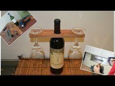 Suporte taças de vinho - Madeira de Pallet - YouTube
