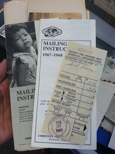 1968 sponsored child information packet for a child in Korea. Postage - $1.10!