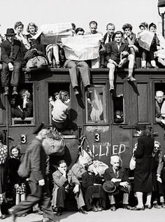 Germans leave post war Berlin 1945