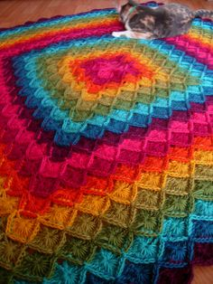The Wool Eater Blanket diseñado por Sarah London  http://www.ravelry.com/designers/sarah-london