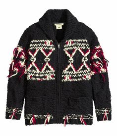 ISABEL MARANT. Purl-knit melange wool cardigan with visible thread ends in the fabric.