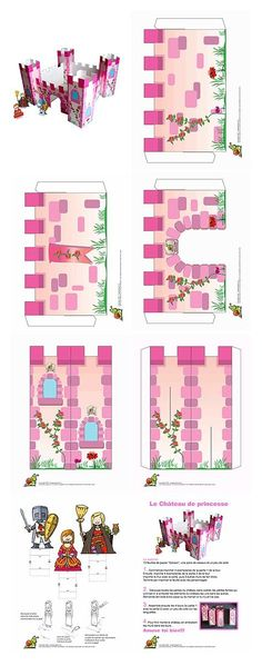 Pink princess castle craft idea