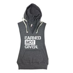 Fight For It Sleeveless Hoodie. Womens by StrongGirlClothing Crossfit Clothes, Crossfit Outfit, Exercise Clothes, Workout Attire, Workout Gear, Gym Gear, Sleeveless Hoodie, Tank Shirt, Fitness Fashion