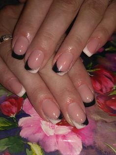 French Nails, Mani Pedi, Fingers, Nail Art Designs, Nail Polish, Makeup, Beauty, Ideas, Nail Designs