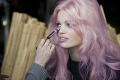 Pinkish purple hair