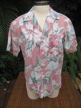e94c1cc3 Womens Hawaiian Shirt Small pit to pit 20 BANANA REPUBLIC cotton tropical  flora