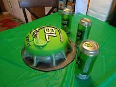 Bud Light Lime  Cake made by The Cake Queen