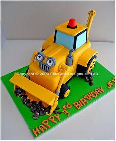 Scoop Birthday Cake, Bob The Builder Birthday Cake, Children Birthday Cakes, 1st Birthday Cakes, Kid Birthday Cakes, Backhoe Cake
