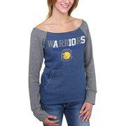 Women's Golden State Warriors 5th and Ocean Royal Blue Hardwood Classics Fleece Long Sleeve T-Shirt
