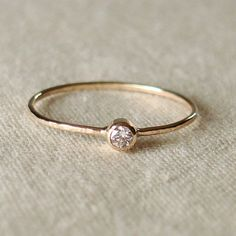 Thread of Gold - Tiny Stacking Ring