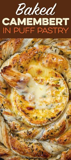 Puff pastry spiral with baked camembert honey rosemary and thyme Puff pastry spiral with baked camembert honey rosemary and thyme Anke Winter Elpiepe REZEPTE ALLGEMEIN Baked camembert in puff pastry with nbsp hellip Cheese Recipes Best Appetizer Recipes, Best Dessert Recipes, Yummy Appetizers, Snack Recipes, Cooking Recipes, Savory Snacks, Baked Camembert, Camembert Cheese, Decorating Kitchen