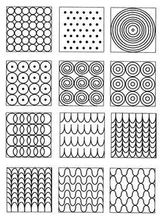 graphisme blonde ombre on black hair - Ombre Hair Doodle Art Designs, Doodle Patterns, Zentangle Patterns, Doodles Zentangles, Basic Drawing, Drawing For Kids, Art For Kids, Form Drawing, Mandala Drawing