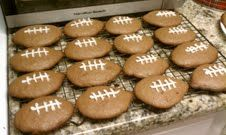Football shaped molasses cookies - inspired by Pinterest.
