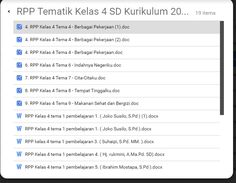 Download RPP Tematik K13 Kelas 4 SD Semester 1 dan 2
