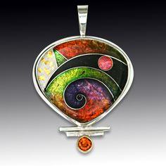 Cloisonne Pendant Enamel Jewelry, Glass Jewelry, Metal Jewelry, Pendant Jewelry, Jewelry Art, Beaded Jewelry, Silver Jewelry, Jewelry Design, Jewellery