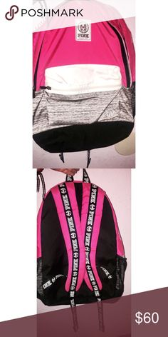 Pink Victoria's Secret Campus Backpack Slightly used but still in great condition has a lot of space  | want to see how much I could get for it. PINK Victoria's Secret Bags Backpacks
