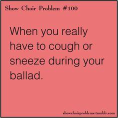 #showchoir this stinks when it happens