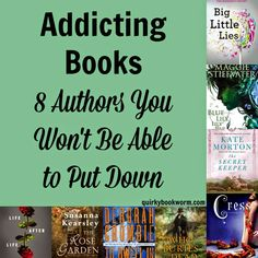 Quirky Bookworm: Addicting Books: 8 Authors You Won't Be Able to Put Down - I love Life After Life and Big Little Lies I Love Books, Good Books, Books To Read, My Books, I Love Reading, Reading Lists, Book Lists, Book Suggestions, Book Recommendations