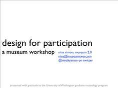Participatory Design Workshop for Museums