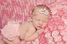 Baby tiara headband tiara headband newborn by KyleighsCreations, $14.00