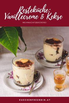 Aus übrig gebliebener Weihnachtsbäckerei wird ein köstliches Dessert. Schnell und einfach zu machen. Köstliche Desserts, Trifle, Panna Cotta, Sweets, Hallo Winter, Ethnic Recipes, Foodblogger, Post, Dessert Chocolate